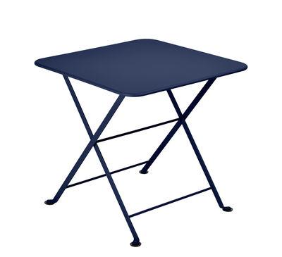 Arredamento - Tavolini  - Tavolino Tom Pouce - / 50 x 50 cm di Fermob - Blu abisso - Acciaio verniciato
