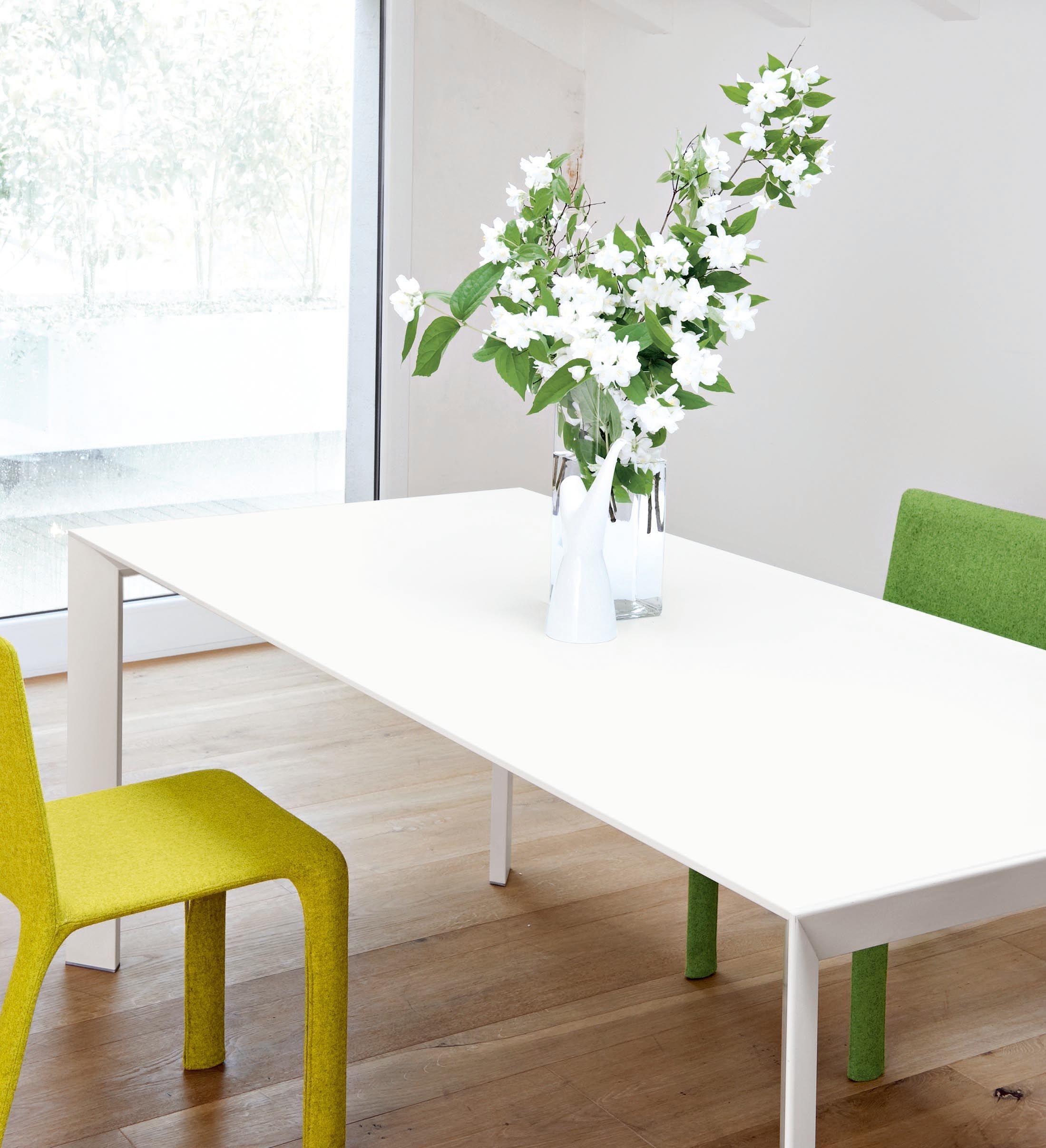 Tavolo con prolunga nori kristalia piano e prolunghe for Prolunga tavolo