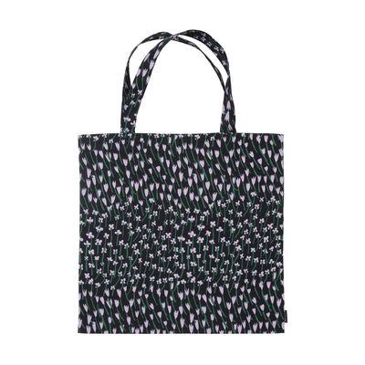 Accessoires - Sacs, trousses, porte-monnaie... - Tote bag Apilainen / Coton - Marimekko - Apilainen / Bleu foncé, lilas, vert - Coton