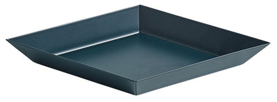 Tableware - Trays and serving dishes - Kaleido XS Tray - 19 x 11 cm by Hay - Dark green - Painted steel