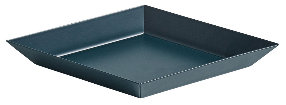 Tableware - Trays - Kaleido XS Tray - 19 x 11 cm by Hay - Dark green - Painted steel