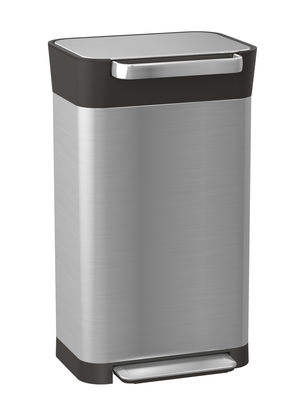 Küche - Mülleimer - Titan Treteimer / Abfallkompressor - 30 bis 90 Liter - Joseph Joseph - Stahl & schwarz - rostfreier Stahl