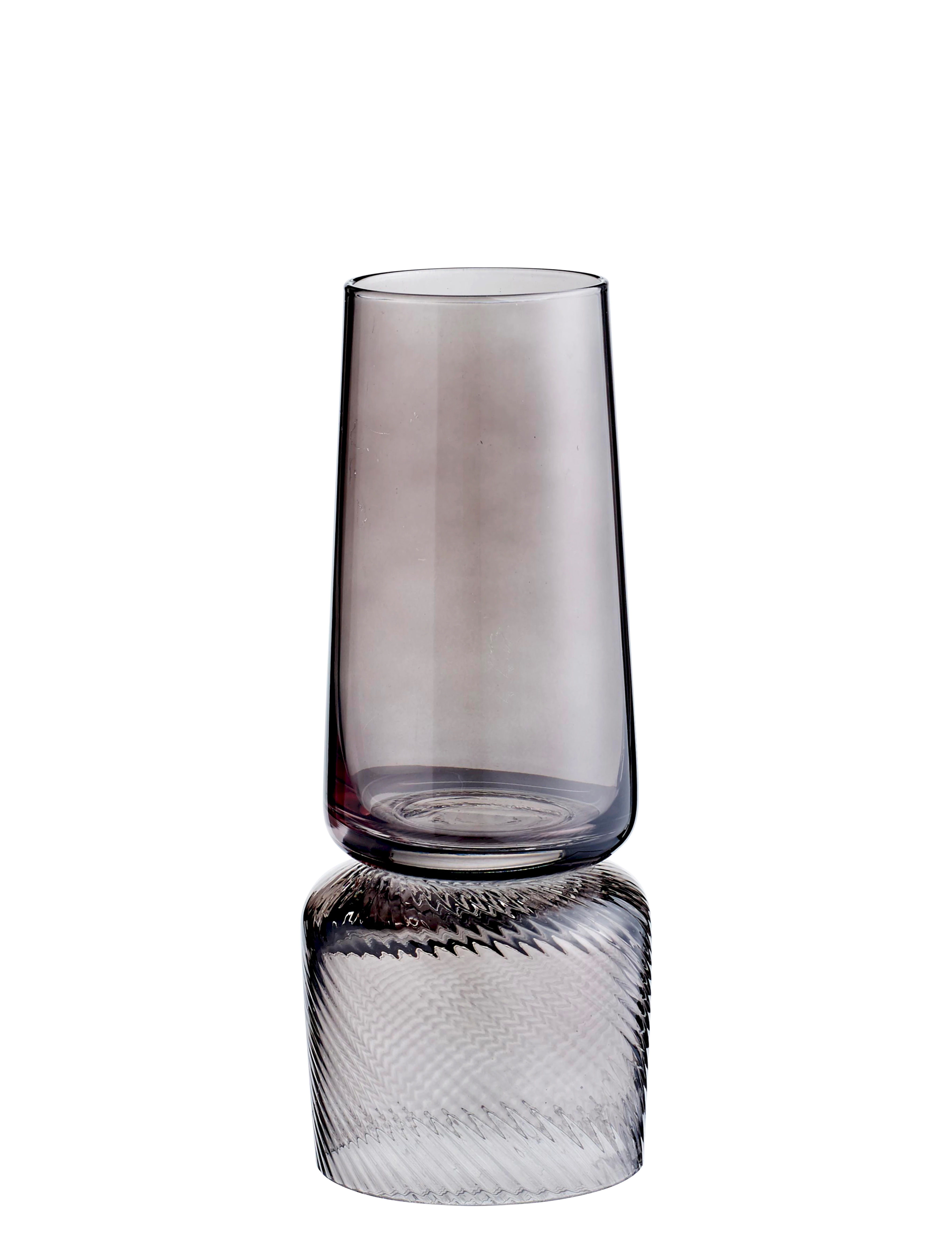 Decoration - Vases - Doppio Vase - / Candle holder - Reversible by Bolia - Smoked grey - Tinted glass
