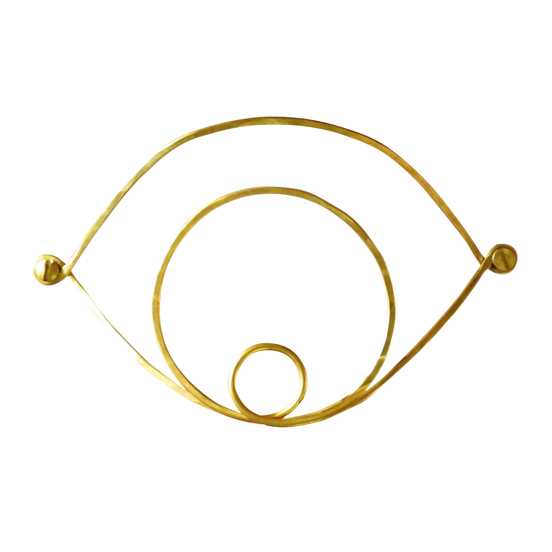 Decoration - Home Accessories - Silhouettes - Wall holder - Eye / Brass by Sentou Edition - Eye / Brass - Brass