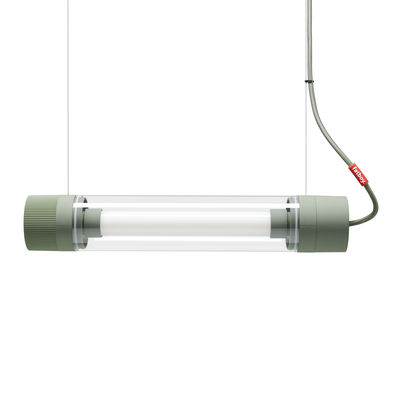 Lighting - Wall Lights - Tjoep Small Wall light - / LED wall light - L 50 cm - Adjustable by Fatboy - Green - Polycarbonate, Rubber