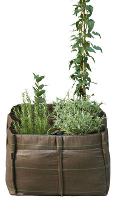 Outdoor - Töpfe und Pflanzen - BacSquare Geotextile Blumenkasten 4 Kammern - 140 L - Bacsac - 4 Kammern - 140 L - braun - Geotextil-Gewebe