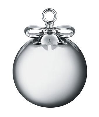 Déco - Objets déco et cadres-photos - Boule de Noël Dressed for X-mas / Boule - Verre soufflé & porcelaine - Alessi - Boule / Argent - Porcelaine peinte, Verre soufflé coloré