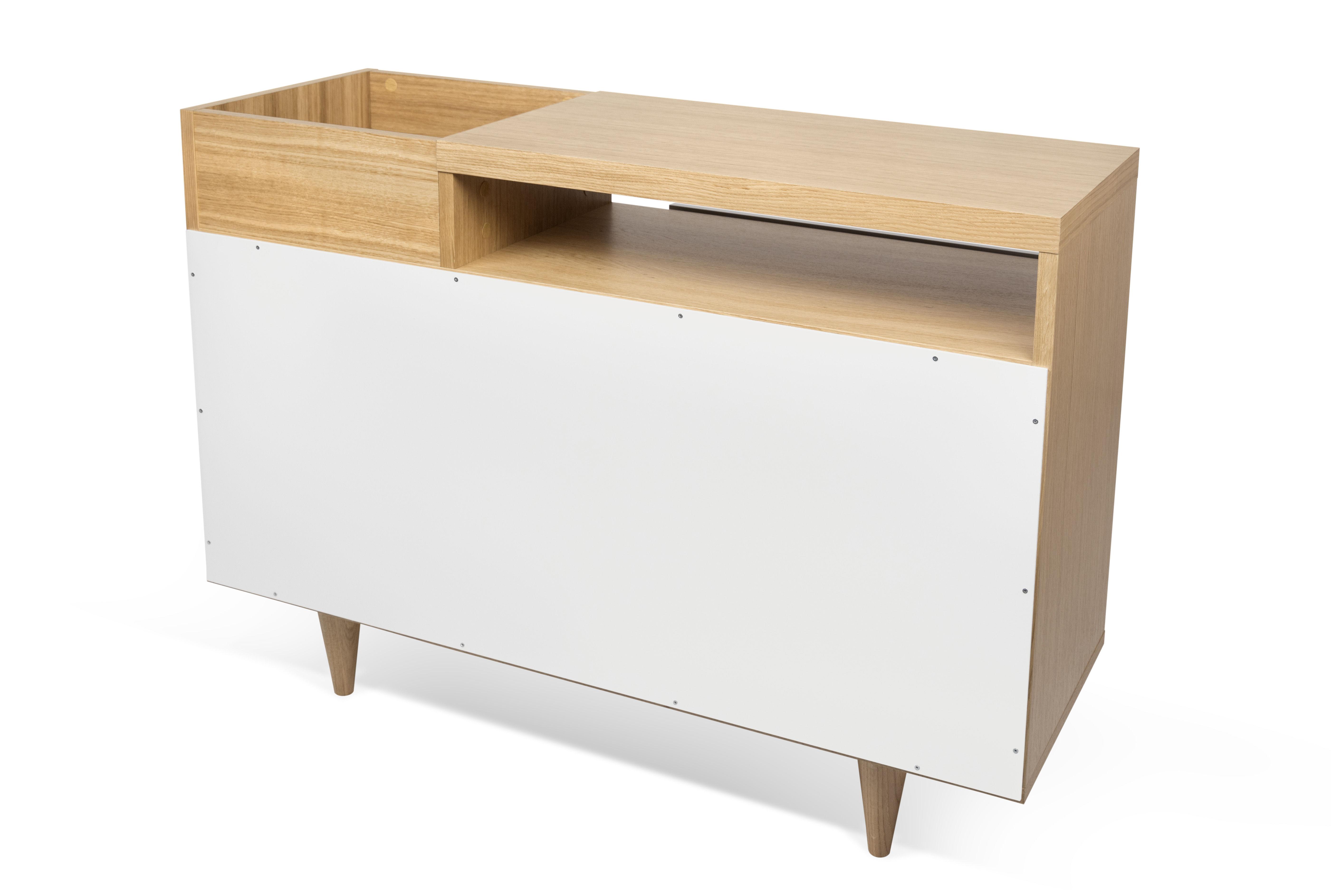 buffet slide l 110 x h 82 cm blanc ch ne pop up home made in design. Black Bedroom Furniture Sets. Home Design Ideas