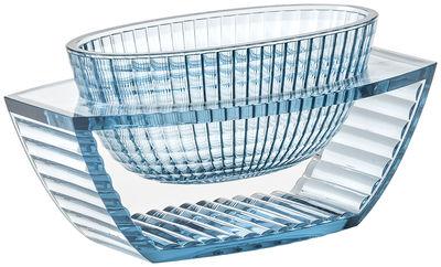 Centre de table U Shine / Vide-poches - Kartell bleu transparent en matière plastique