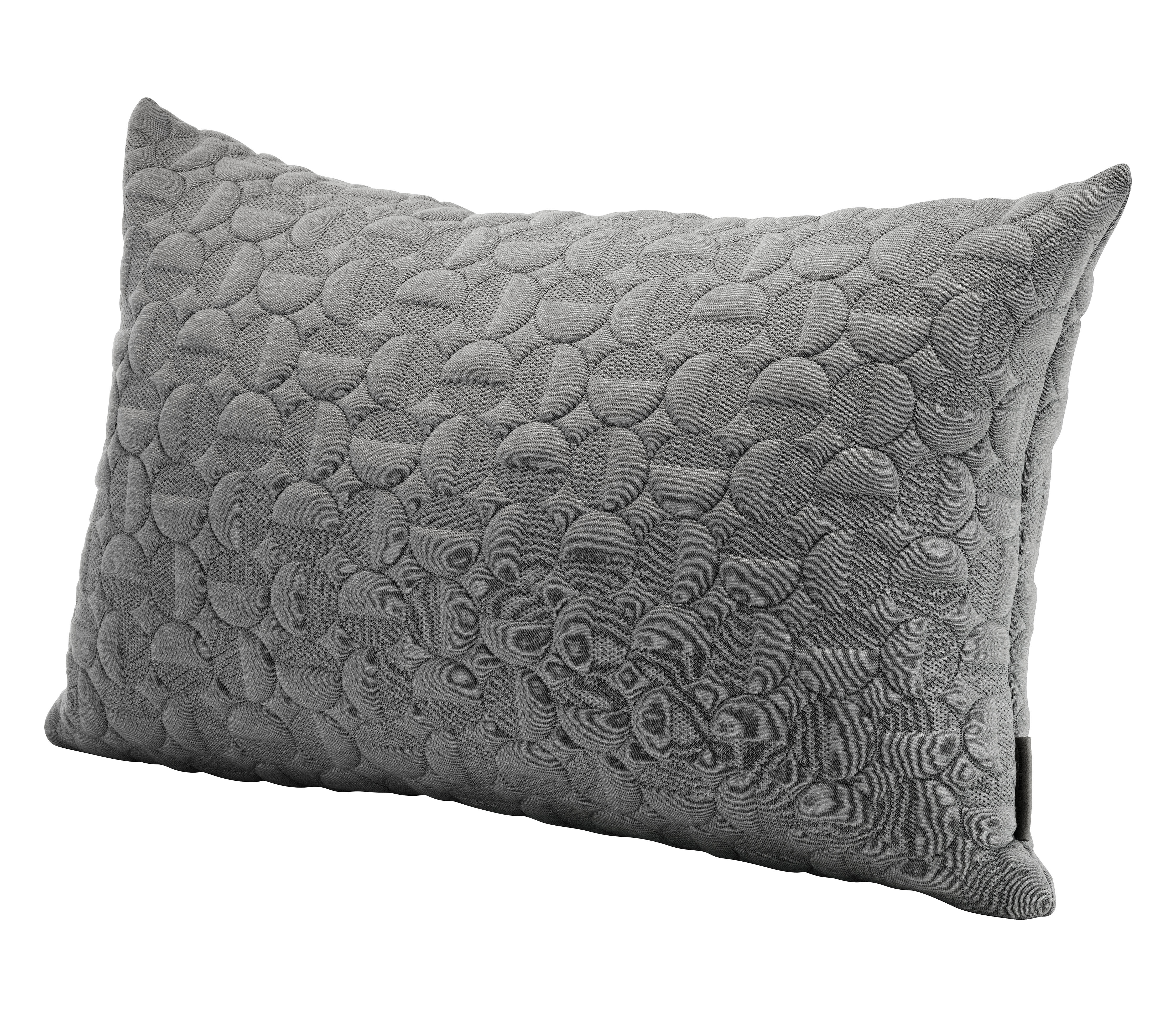 Decoration - Cushions & Poufs - Vertigo Cushion - By Arne Jacobsen - 60 x 40 cm by Fritz Hansen - Light grey - Polyurethane, Wool