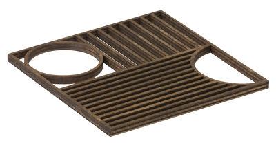 Arts de la table - Dessous de plat - Dessous de plat Outline Trivet / Chêne - Ferm Living - Chêne fumé - Chêne