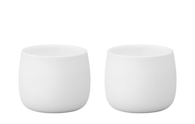 Tableware - Coffee Mugs & Tea Cups - Foster Espresso cup - / Set of 2 - 4 cl by Stelton - White - China