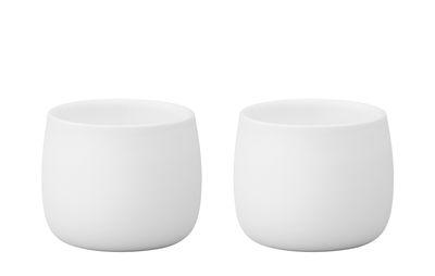 Tavola - Tazze e Boccali - Espresso tazza Foster - / Set da 2 - 4 cl di Stelton - Bianco - Porcellana
