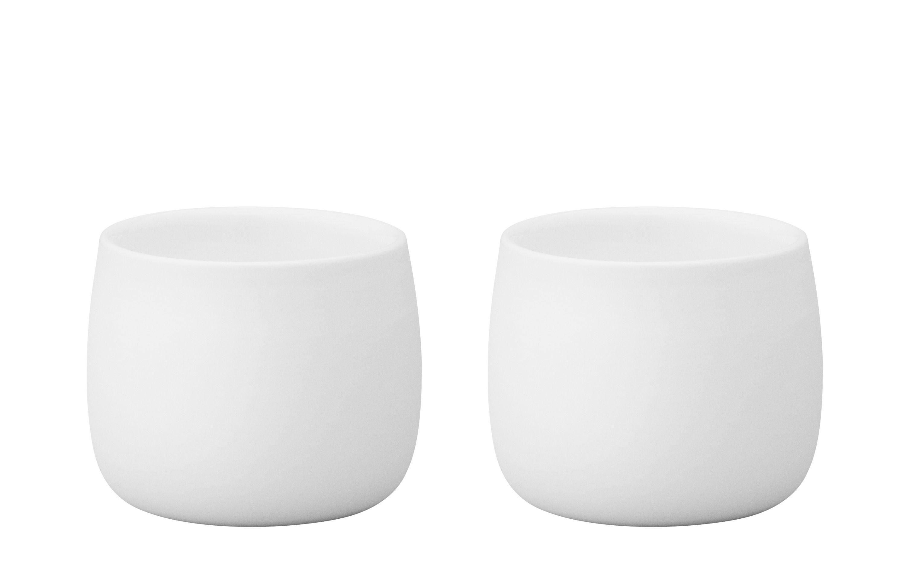 Tischkultur - Tassen und Becher - Foster Espressotasse / 2er-Set - 4 cl - Stelton - Weiß - Porzellan