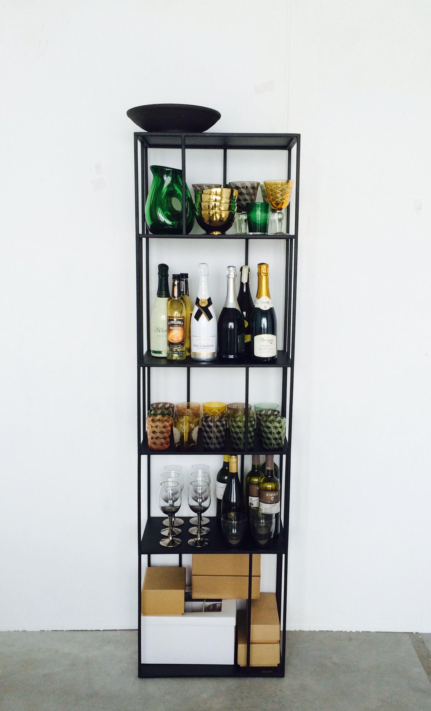 etag re metal tall single pols potten l 50 cm noir l. Black Bedroom Furniture Sets. Home Design Ideas