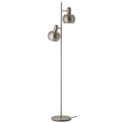 Lighting - Floor lamps - BF20 Double Floor lamp - / 2 adjustable lampshades by Frandsen - Matt brushed satin - Acrylic, Metal
