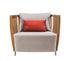 Swing Lounge Gepolsterter Sessel / Teakholz & Aluminium - Ethimo