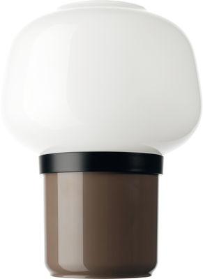 Luminaire - Lampes de table - Lampe de table Doll / H 22 cm - Foscarini - Taupe - ABS, Polycarbonate, Verre soufflé