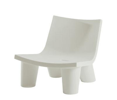 Low Lita Lounge Sessel - Slide - Milchweiß