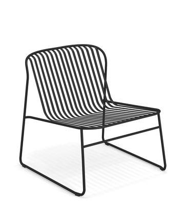 Riviera Lounge Sessel / Metall - Emu - Schwarz