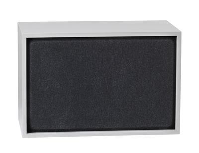Arredamento - Scaffali e librerie - Pannello fonoassorbente / Per mensola Stacked Large - 65x43 cm - Muuto - Nero - Feltro pressato
