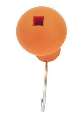 Mobilier - Portemanteaux, patères & portants - Patère Globo - Magis - Orange - Acier inoxydable, Polypropylène