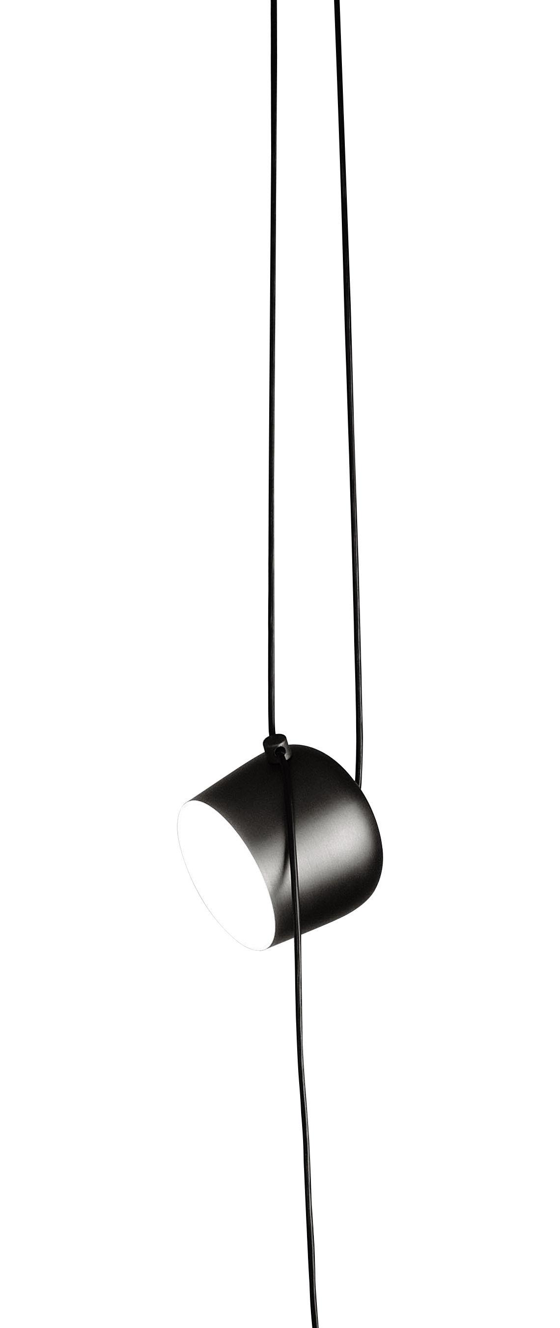 Lighting - Pendant Lighting - AIM Small Pendant - LED - Ø 17 cm by Flos - Black - Aluminium, Polycarbonate
