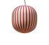 Filigrane Cylindre Pendant - / Red stripes - Ø 22 cm by Established & Sons