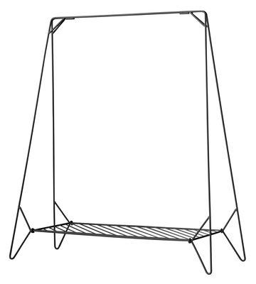 Mobilier - Portemanteaux, patères & portants - Portant Anker / L 130 cm - Menu - Noir - Acier laqué mat