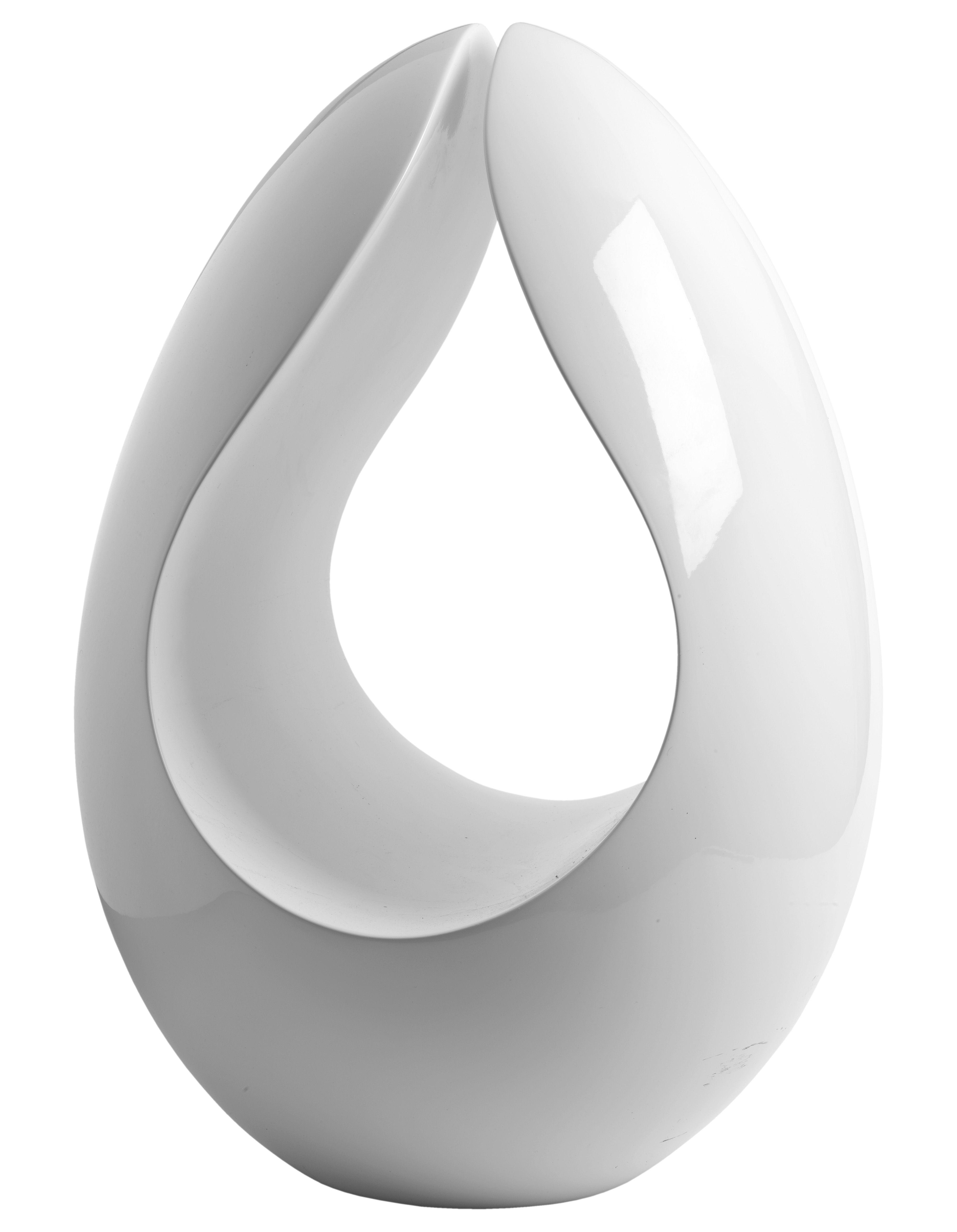 Déco - Paniers et petits rangements - Porte-revues Ovo - Stamp Edition - Blanc brillant - Fibre de verre