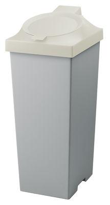 Poubelle Top / Pour tri sélectif - 20 Litres - Authentics blanc en matière plastique