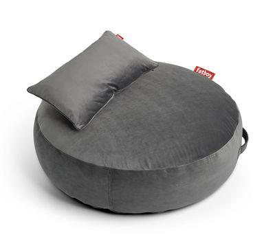 Pouf Pupillow Velvet / Velours - Ø 120 cm - Fatboy Ø 120 - Epaisseur 30 cm taupe en tissu