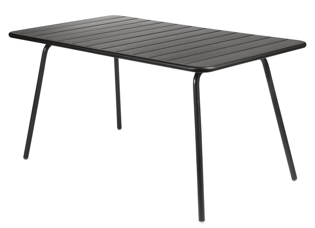 Life Style - Luxembourg Table rectangulaire für 6 Personen - L 143 cm - Fermob - Lakritz - lackiertes Aluminium