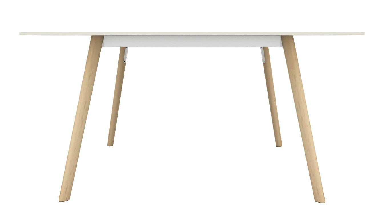 Möbel - Tische - Pilo rechteckiger Tisch / 160 x 85 cm - Magis - Holz natur / weiß - Esche massiv, Fonte d'aluminium, HPL