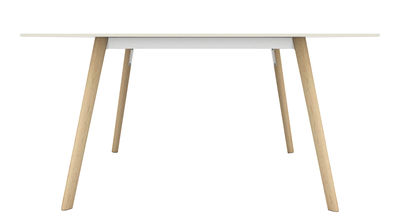Furniture - Dining Tables - Pilo Rectangular table by Magis - Natural wood / white - Ashwood, Cast aluminium, HPL