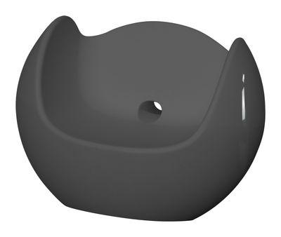 Rocking chair Blos / Version laquée - Slide laqué gris en matière plastique