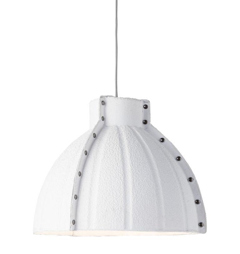 Illuminazione - Lampadari - Sospensione Yellowstone - / Cartone riciclato - Ø 40 cm di GOOD&MOJO - Bianco - Acciaio, Carton recyclé