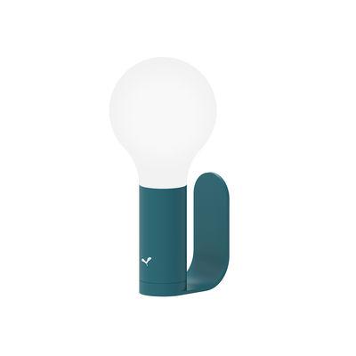 Illuminazione - Lampade da tavolo - Supporto murale - / Per lampada senza fili Aplô LED di Fermob - Acapulco blu - Alluminio