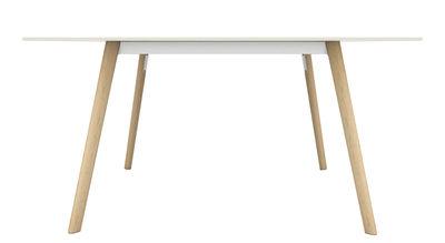Mobilier - Tables - Table rectangulaire Pilo / 160 x 85 cm - Magis - Bois naturel / blanc - Fonte d'aluminium, Frêne massif, HPL