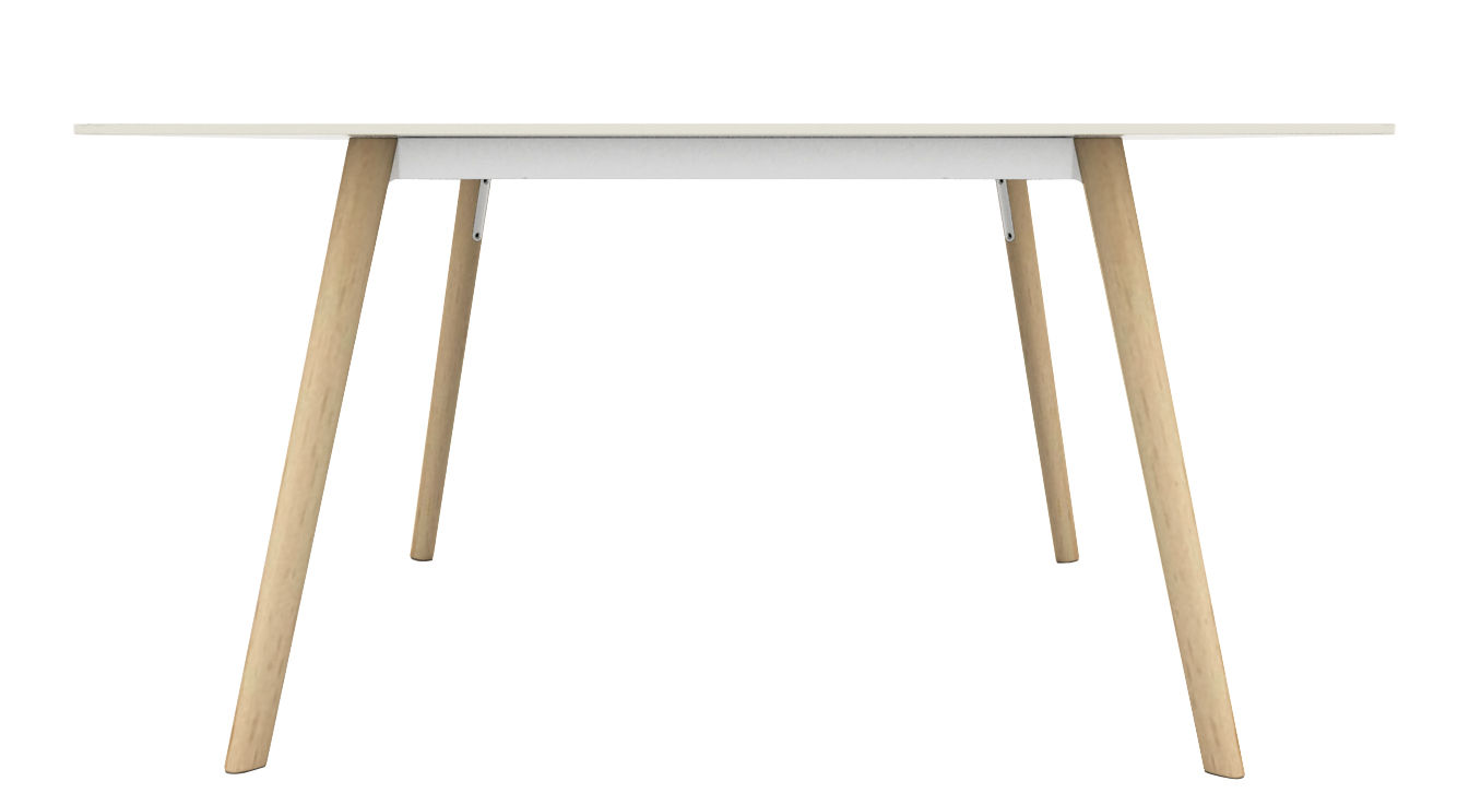 Tendances - Un bureau plein d'esprit - Table rectangulaire Pilo / 160 x 85 cm - Magis - Bois naturel / blanc - Fonte d'aluminium, Frêne massif, HPL