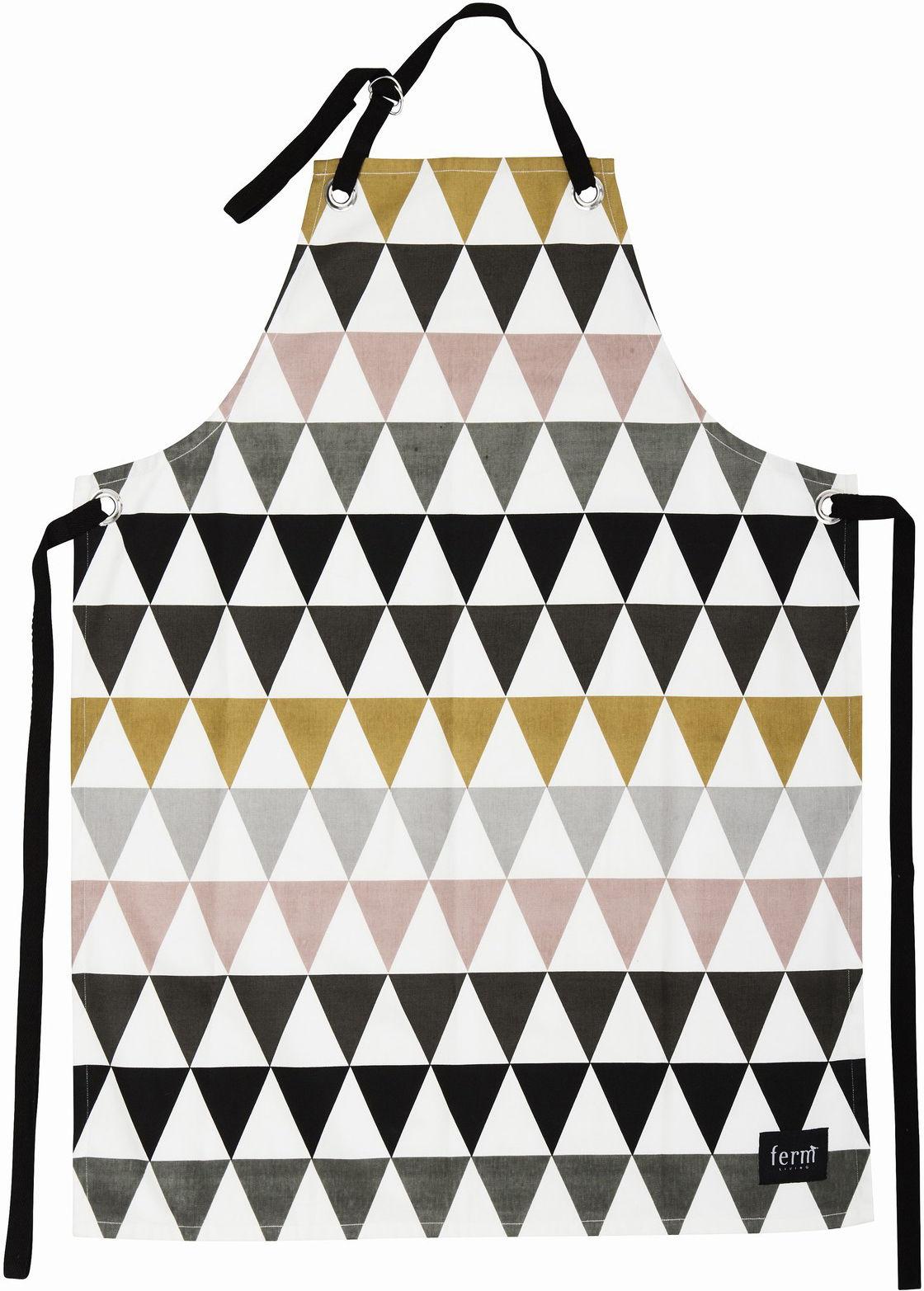 Cuisine - Tabliers et torchons   - Tablier Triangle - Ferm Living - Multicolore - Coton