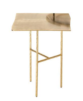 Arredamento - Tavolini  - Tavolino d'appoggio XXX Small - / 33 x 32 x H 43 cm di Opinion Ciatti - Oro 24 carati - Ferro battuto , Nichel galvanizzato placcato oro 24 carati