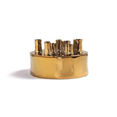 Dekoration - Vasen - Anouk Spouts Vase / Large - Porzellan - Ø 25 cm - & klevering - Ø 25 cm / Goldfarben - Porzellan