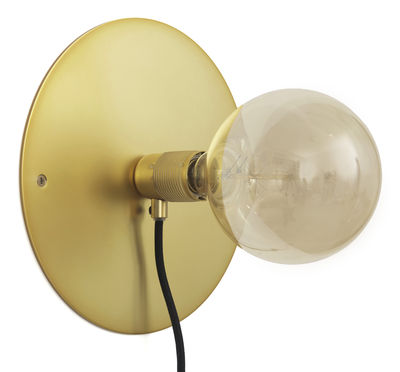 Frama Kit Wandleuchte mit Stromkabel groß / Ø 25 cm - Frama - Messing