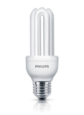 Ampoule fluocompacte E27 Genie / 11W (50W) - 580 lumen - Philips transparent en verre