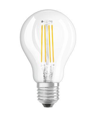 Ampoule LED E27 / Sphérique claire - 4W=40W (2700K, blanc chaud) - Osram transparent en verre