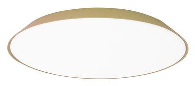 Luminaire - Appliques - Applique Febe LED / Plafonnier - Ø 61 cm - Artemide - Gris tourterelle - Méthacrylate, Polycarbonate