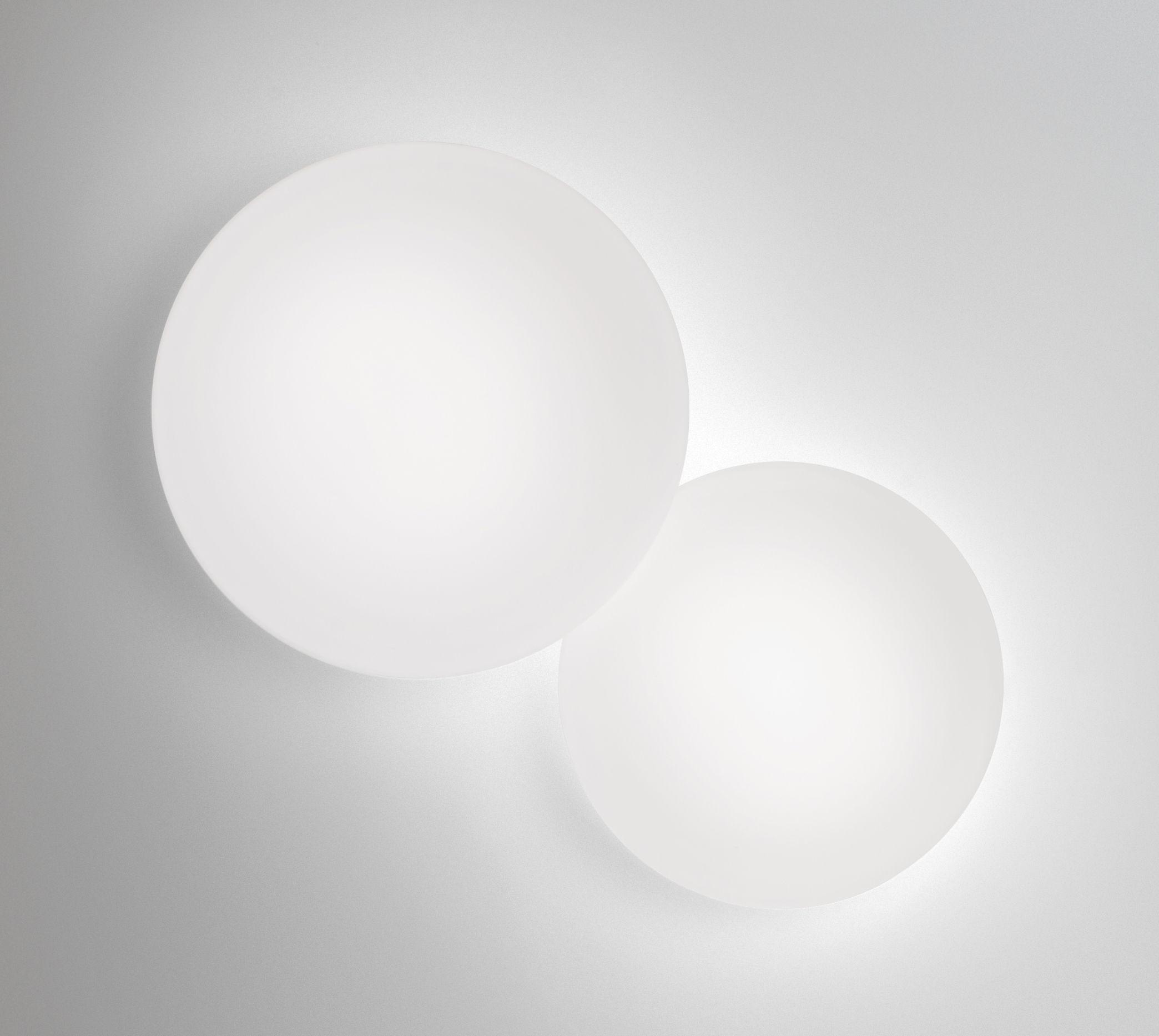 Illuminazione - Lampade da parete - Applique Puck - Doppia di Vibia - Bianco - vetro soffiato