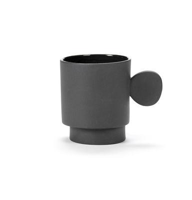 Tischkultur - Tassen und Becher - Inner Circle Becher / 35 cl - Steinzeug - valerie objects - Dunkelgrau - Sandstein