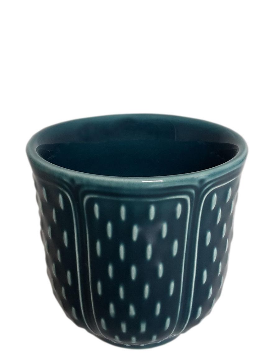 Tavola - Tazze e Boccali - Bicchiere/bicchierino Les Petits Choux - / Set da 2 - 8,5 cl di GIEN - Blu acapulco - Faïence émaillée de Gien